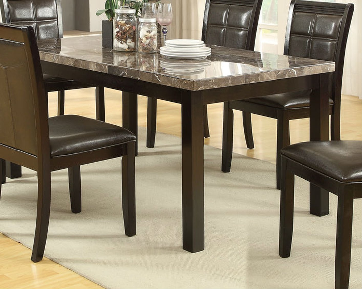 brown marble dining table DGLOHFR