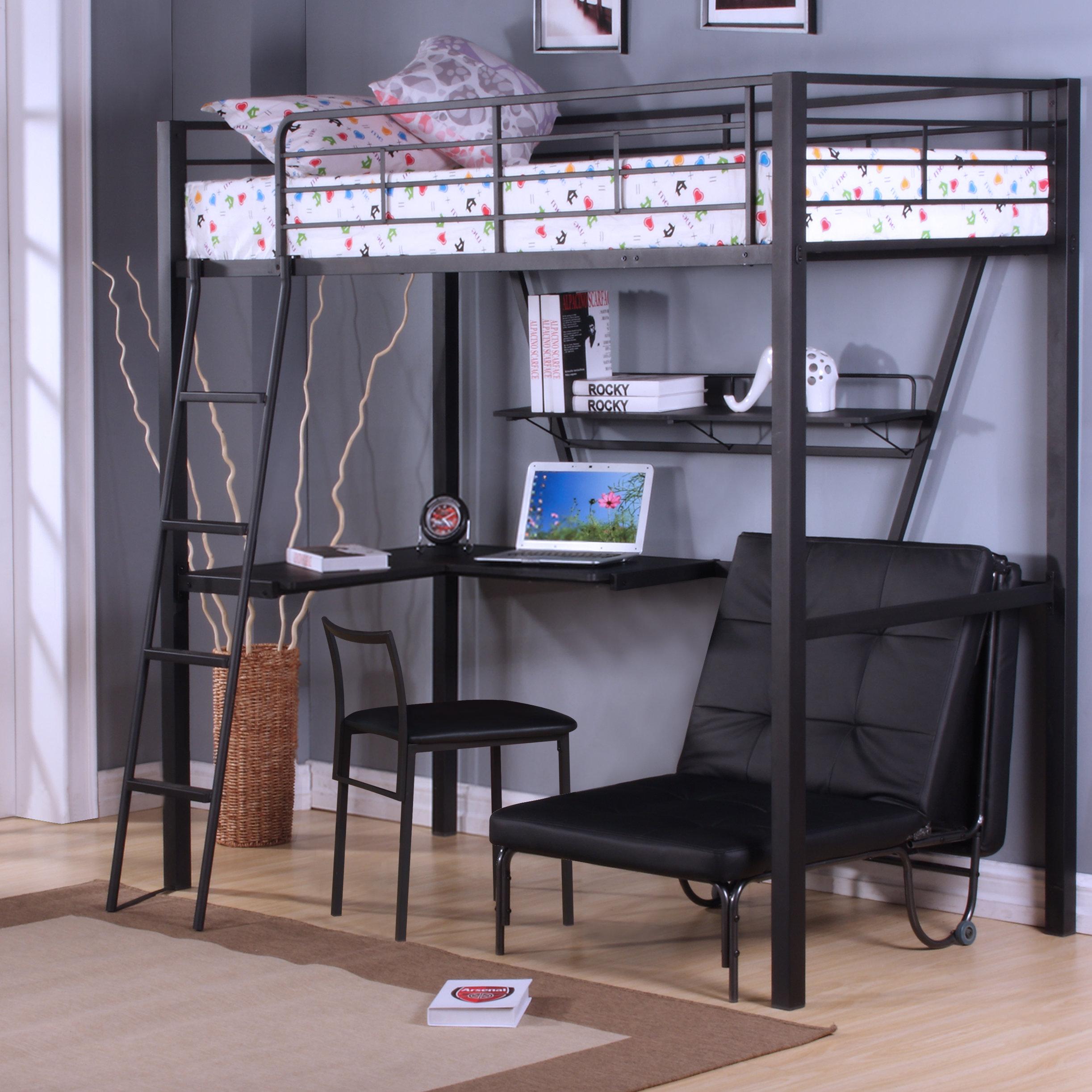 bunk beds with desk acme furniture senon loft bed with desk u0026 reviews | wayfair GWKEDUN