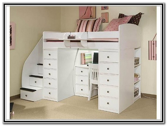 bunk beds with desk underneath ikea ZAAPOHG