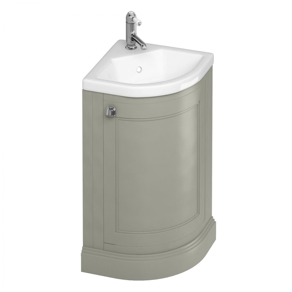 burlington freestanding corner cloakroom vanity unit XGKOAZY