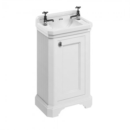 burlington freestanding edwardian cloakroom vanity unit - sand YAMUWNS