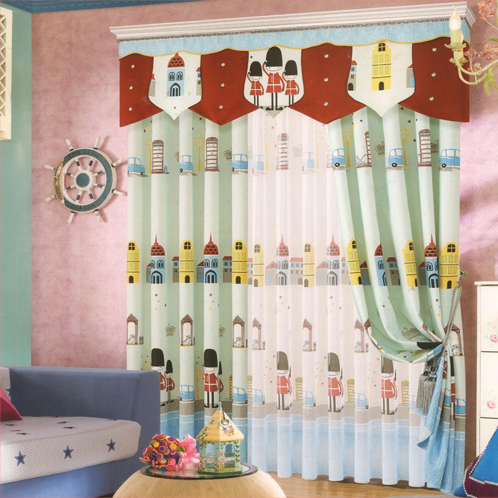 cartoon patterns kids curtains boys for bedroom(no valance) XTKVCNA