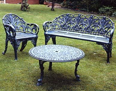 cast aluminium garden furniture click here for details of benches and chairs PNCKMOK