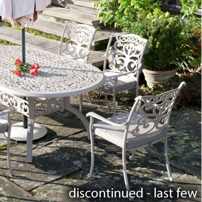 cast aluminium garden furniture image for idle rose garden furniture IGGOZQU