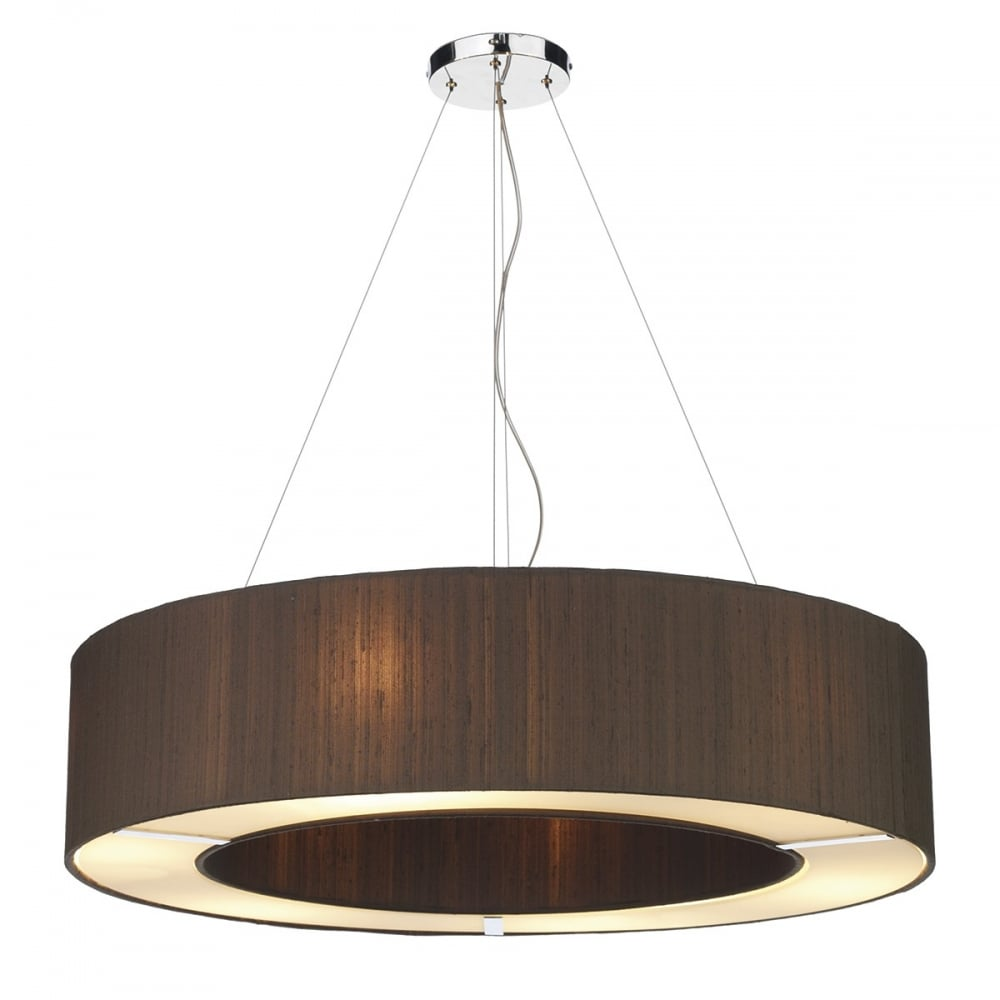 ceiling light shades polo circular nutmeg silk ceiling pendant light shade EKLGCMN