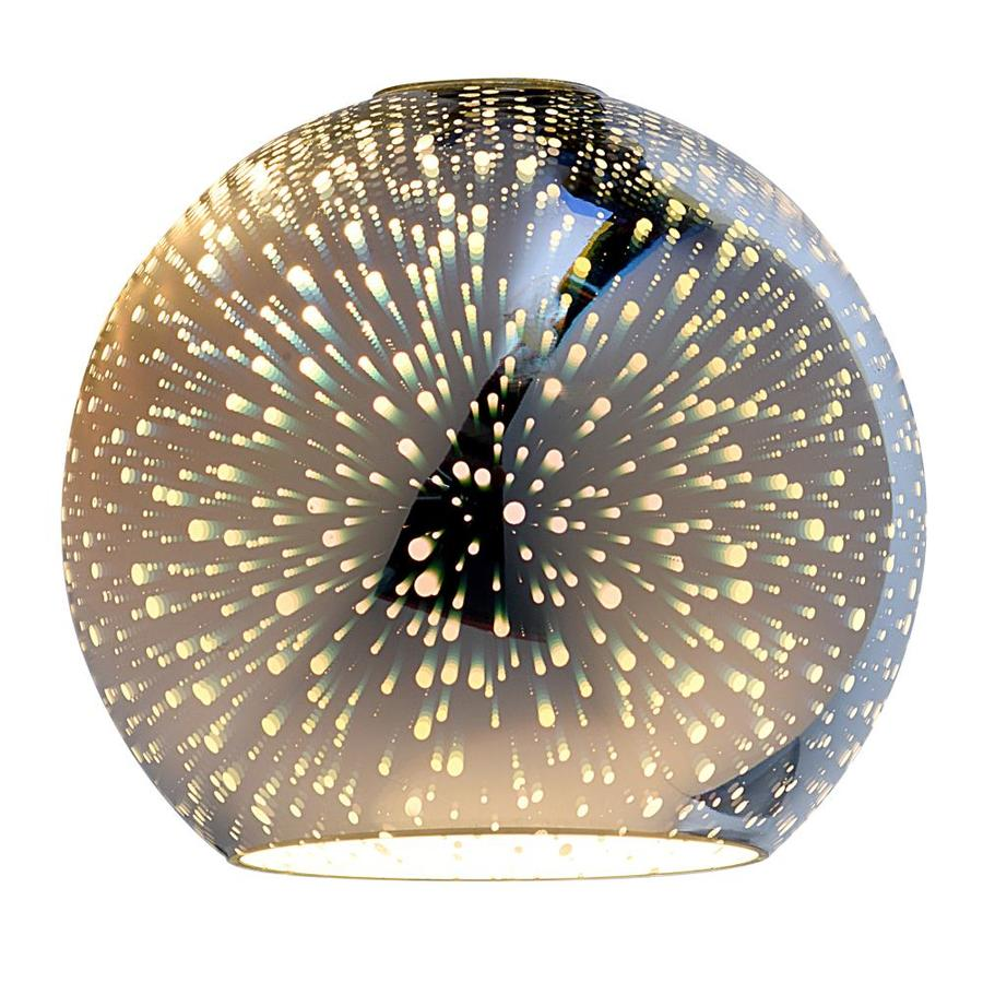 ceiling light shades portfolio 6.3-in h 7-in w silver explosion art glass globe pendant UTHQXQR