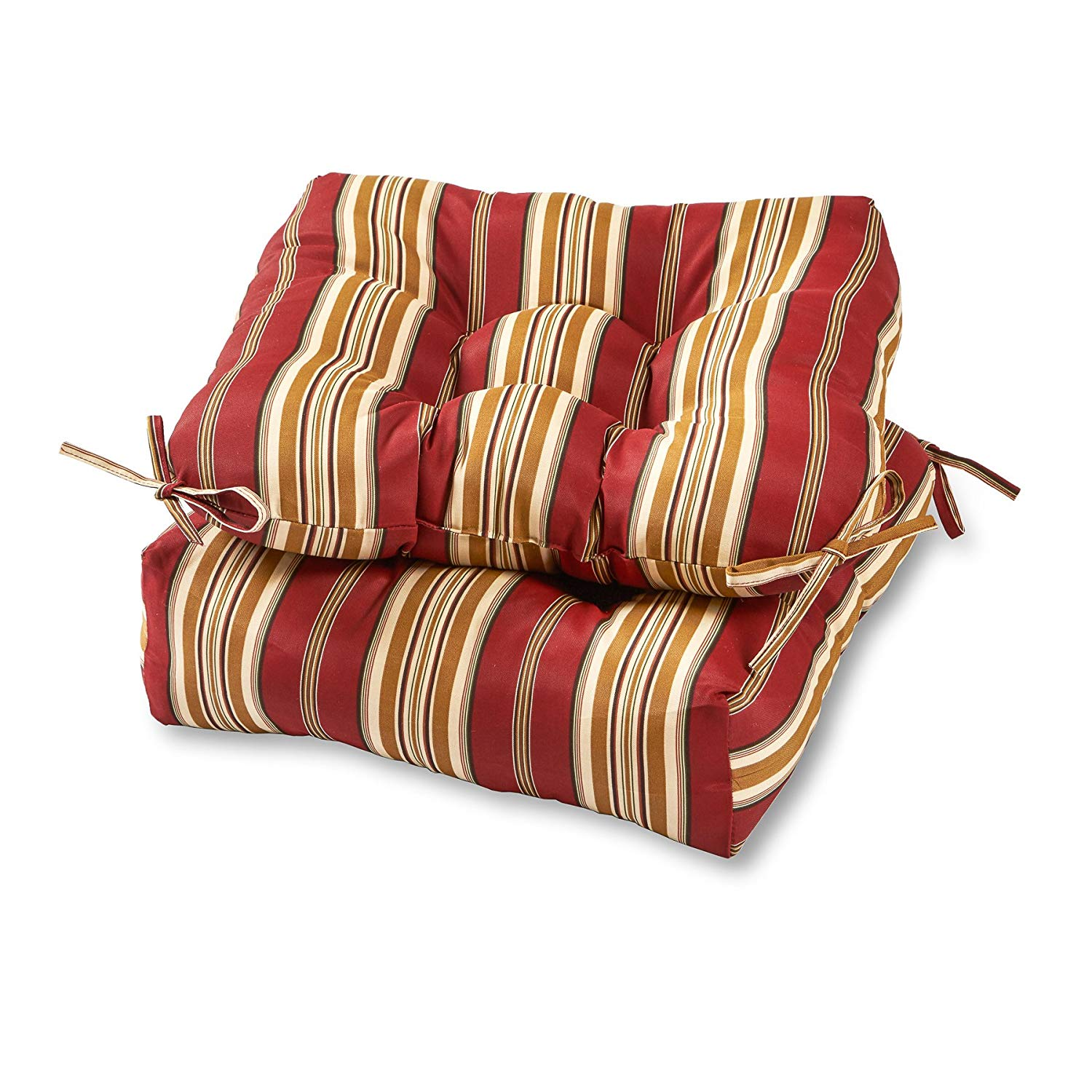 chair cushions amazon.com: greendale home fashions 20-inch outdoor chair cushion (set of LZKQHFJ