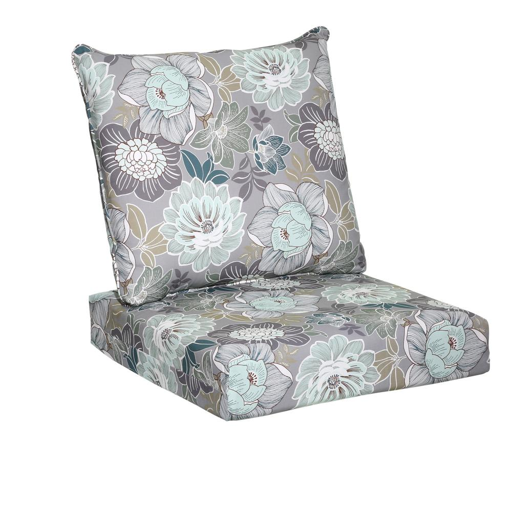 chair cushions hampton bay charleston floral 2-piece deep seating outdoor lounge chair BWPWEII