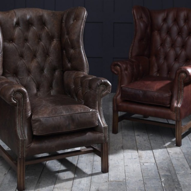 chesterfield furniture leather chairs XQCQHVA