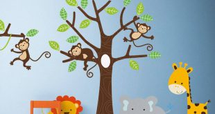 children wall stickers childrenu0027s jungle wall stickers LUFHNSG