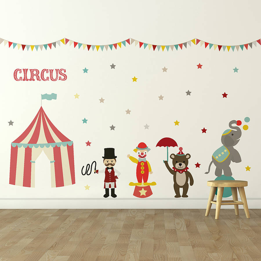 children wall stickers u0027childrenu0027s circusu0027 wall sticker set. u0027 YQABXDL