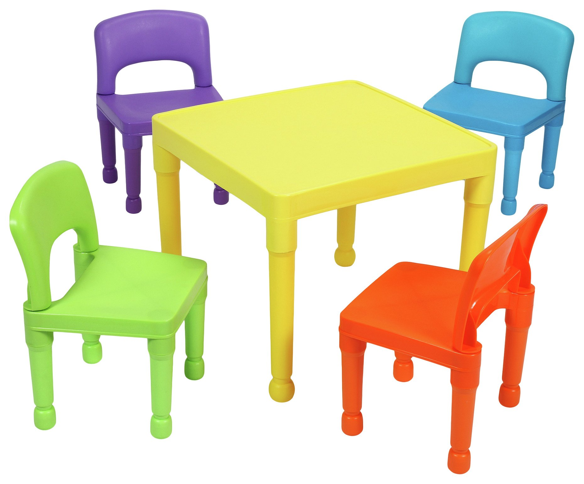 childrens garden furniture liberty house multicoloured nursery table and 4 chairs PJMIKDT