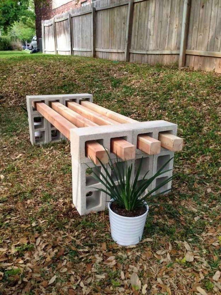 cinder block bench cinder block outdoor bench samples DRAKDEJ