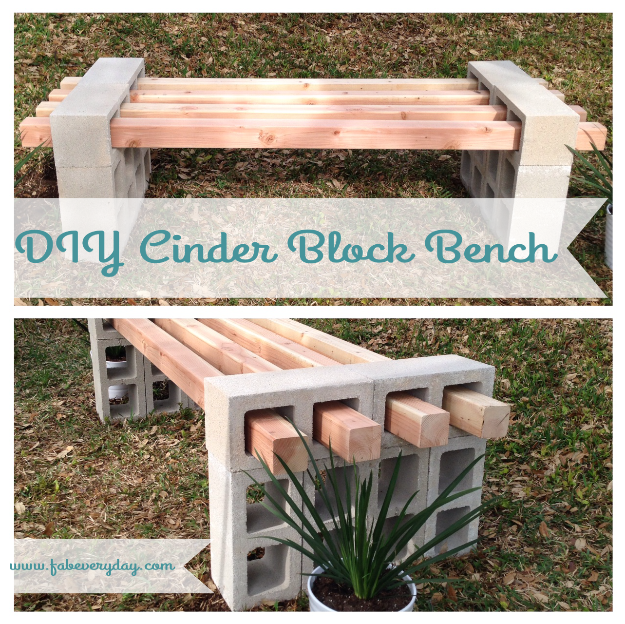 cinder block bench fab everyday | because everyday life should be fabulous | WGQEEWU