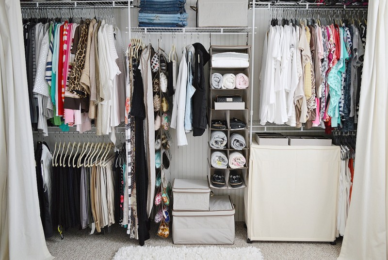closet makeover ideas affordable organized closet makeover JKLXEBO