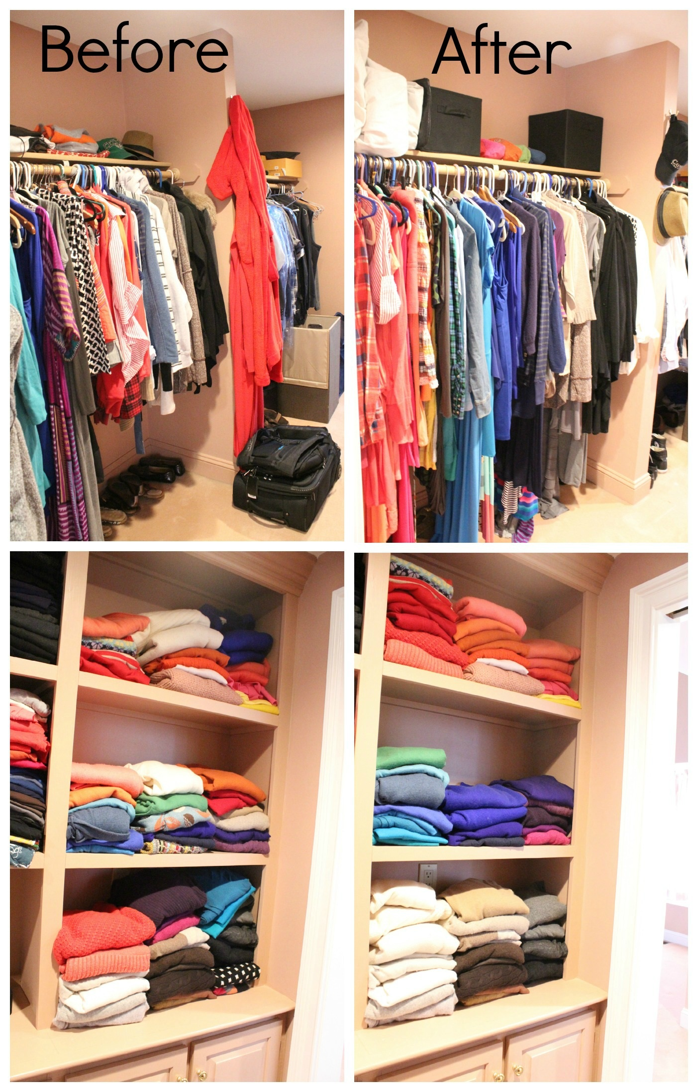 closet makeover ideas before and after by colors JBHXBWV