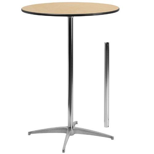 cocktail tables amazon.com: flash furniture 30u0027u0027 round wood cocktail table with 30u0027u0027 and HICTUQN