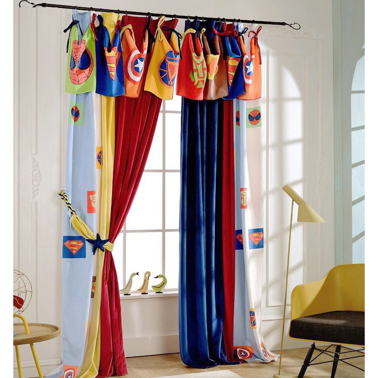 colorful soft cartoon patterns stylish kids curtains(no valance) CPWZYBR