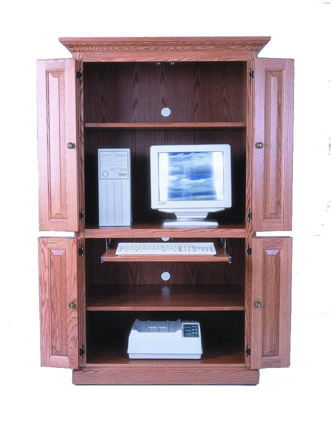 computer armoire amish 40 DBLFIUG