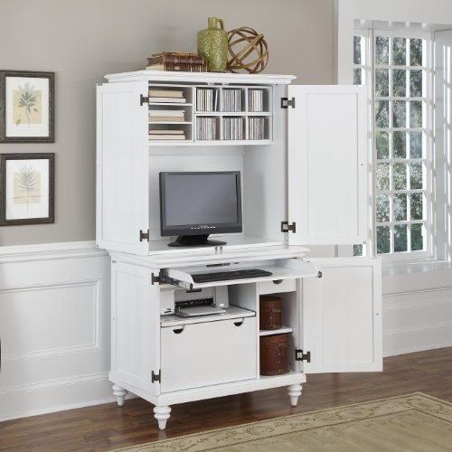 computer armoire home styles 5543-190 bermuda compact computer cabinet and hutch, brushed FPJDQLO
