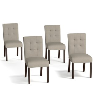 contemporary dining chairs isidora side chair set (set of 4) YRGBFRD