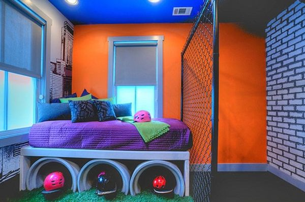 cool kids room ideas fun kids bedroom with bright color GOEOIPI
