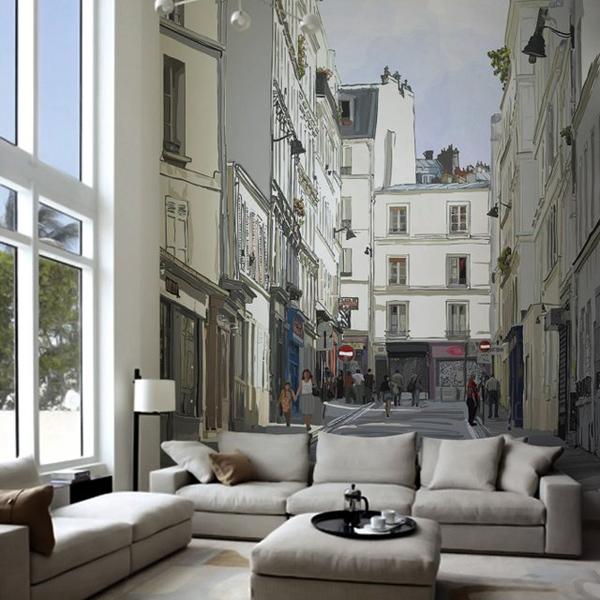 cool wall murals montmartre, paris wall mural OJAUWZK