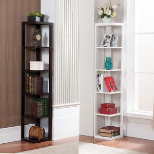 corner bookshelf image is loading 5-tier-bookcase-wall-corner-bookshelf-storage-rack- JLRZXQS
