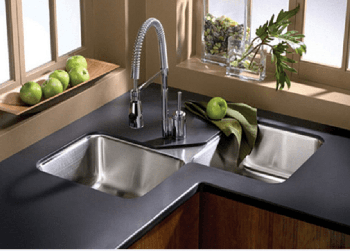 corner kitchen sinks corner undermount kitchen sinks WQQVMKJ