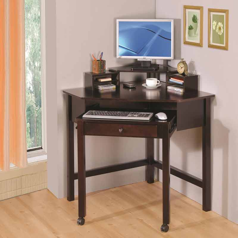 corner small computer desk with wheels UUVBUDE