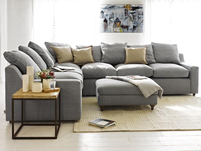 corner sofas cloud corner sofa in our magnesium washed cotton linen QKVYFAR