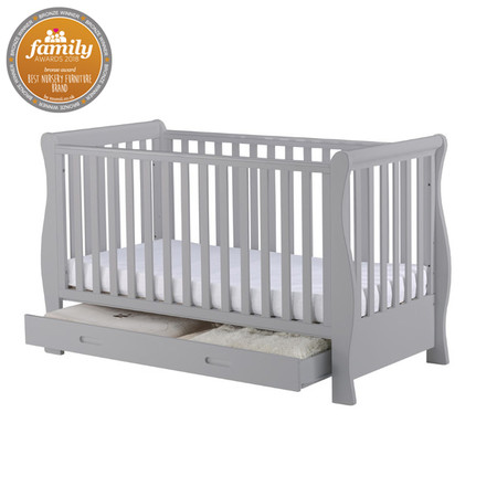 cot beds infababy royal sleigh cotbed - grey TOEBHKS