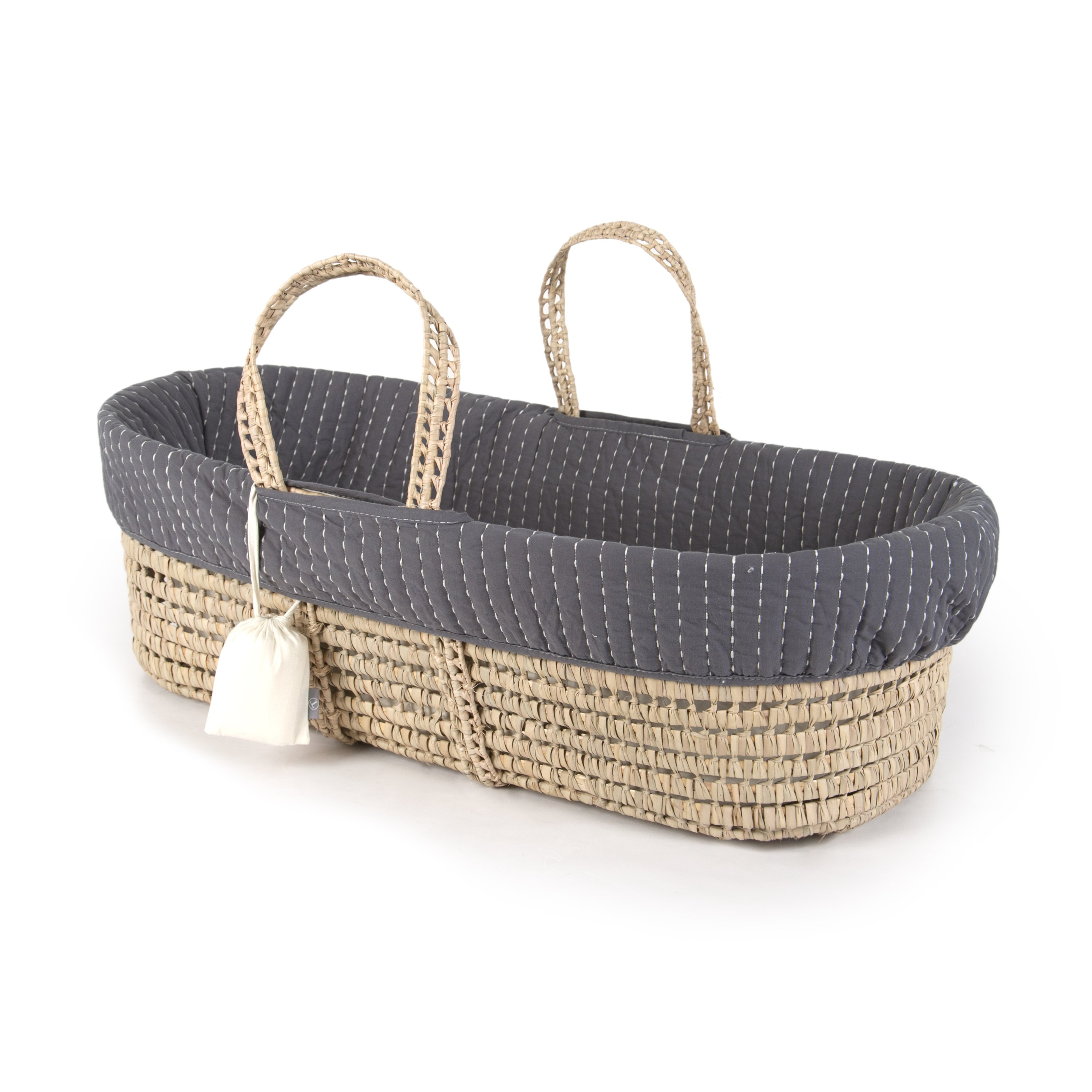 cotton stitched moses basket SGKVELG