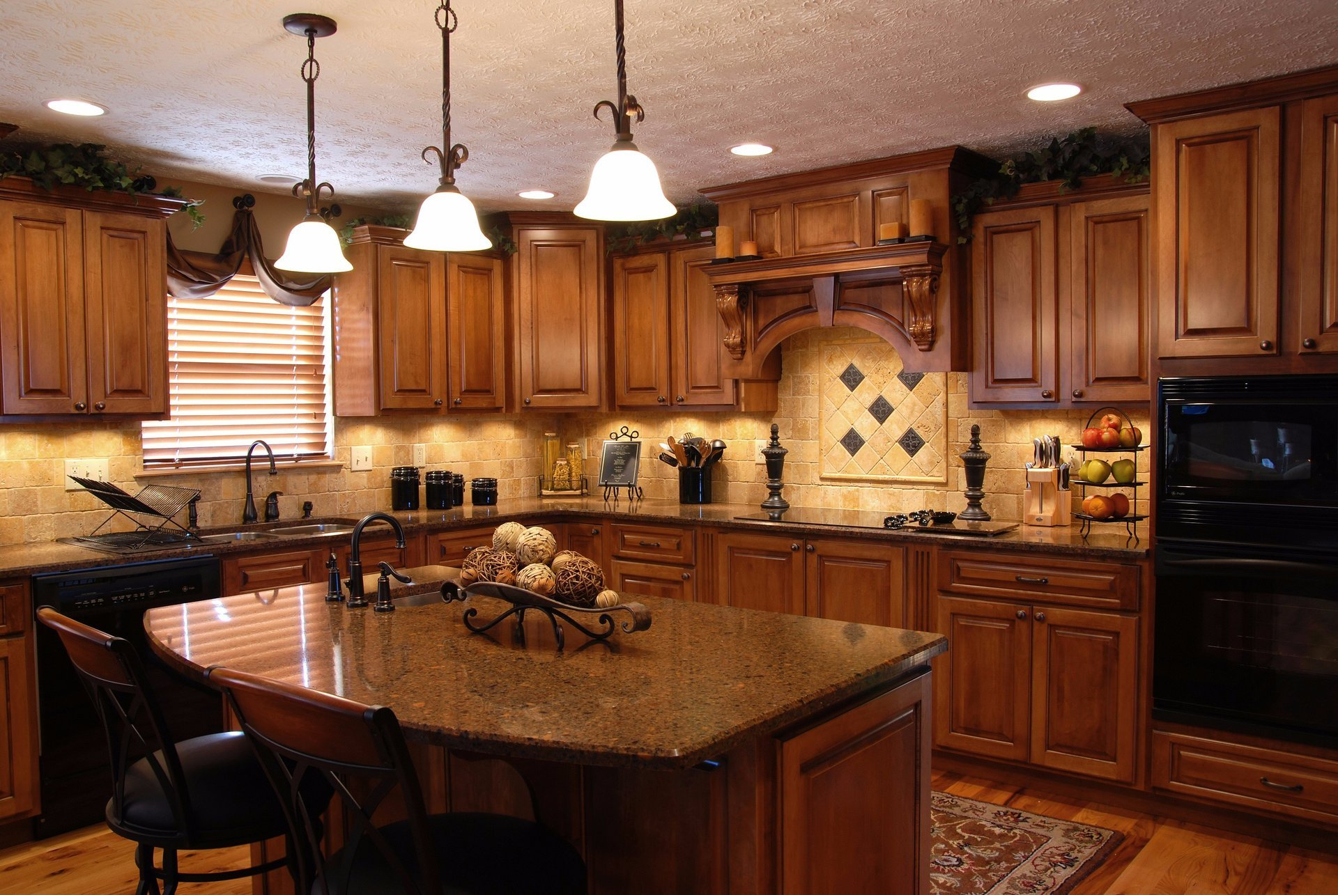 craftsman-style custom kitchen cabinets PRZYQTC