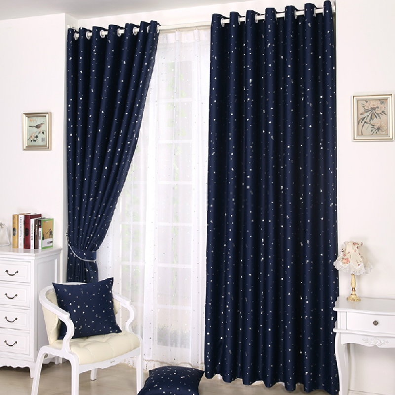 curtain patterns kids beautiful dark blue curtains with patterns of stars ZVUVHIW