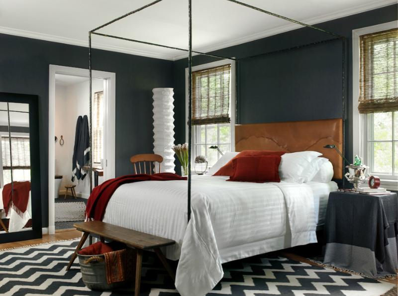 dark gray with brown bedroom color scheme UKRDCKE