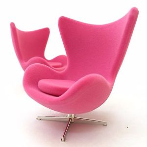 designer chairs image is loading miniature-egg-chair-pink-suede-mid-century-designer- TKNIUOR