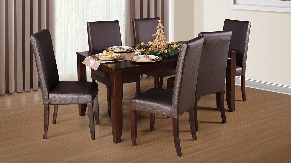 dining room suites dante 7pce diningroom suite, brown, mdf OXCETQQ