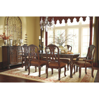 dining sets signature design by ashley® north shore 7-piece rectangular dining FFFAJYB