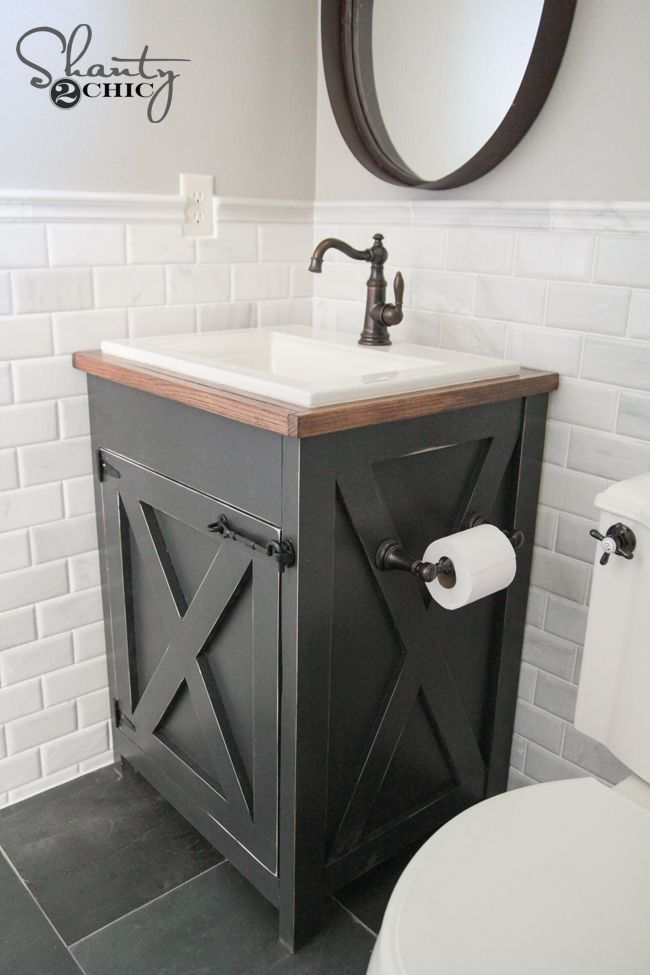 dıy bathroom vanity diy farmhouse bathroom vanity XZWUMQH