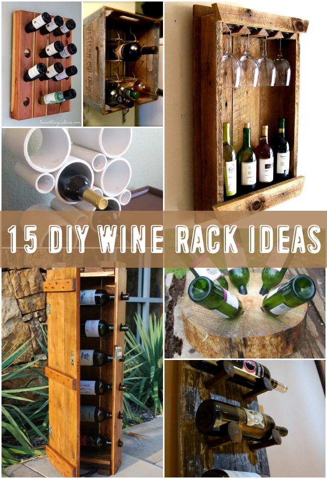 diy wine racks 15 awesome diy wine rack ideas NUVBRDC