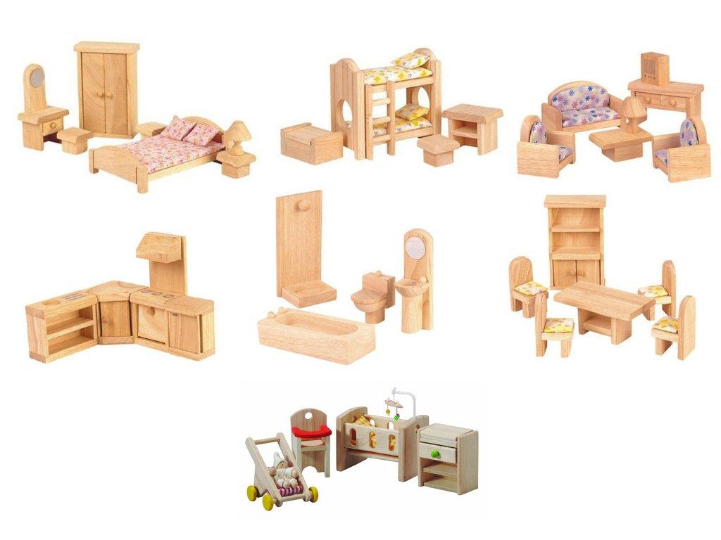 doll house furniture set 7 room dollhouse furniture set-elves u0026 angels WERYKMD