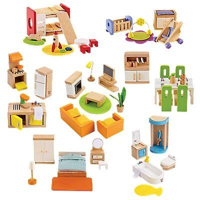 doll house furniture set complete wood dollhouse furniture set | onestepahead.com HSGYWJK