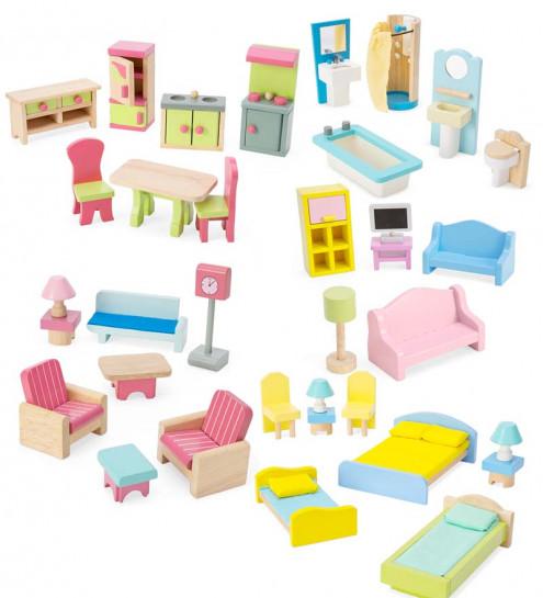doll house furniture set dollhouse furniture (set of 35) | cwdkids YPNFGTN