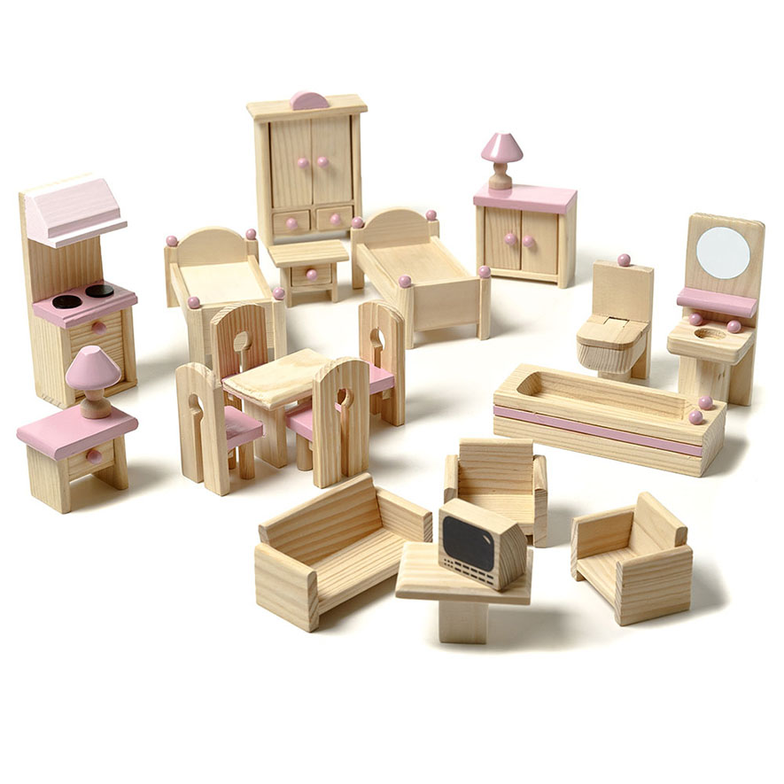 doll house furniture set wooden dolls house furniture sets ... DIFULXG