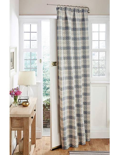 door curtains quilted thermal tartan door curtain NIBYETG