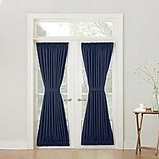 door curtains sun zero bella 72-inch room darkening rod pocket door panel VNKPASQ