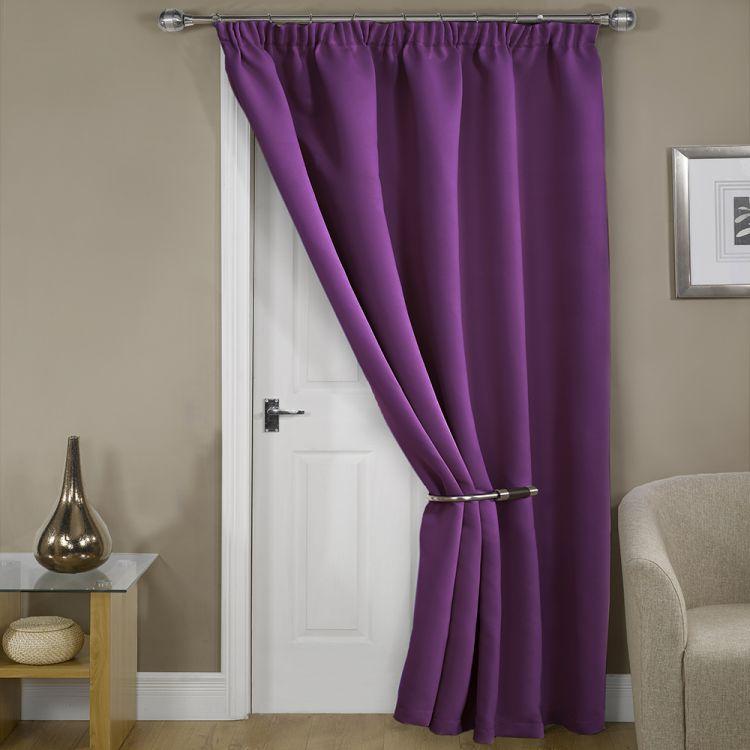 door curtains thermal supersoft blackout door curtain purple ROPMVHN