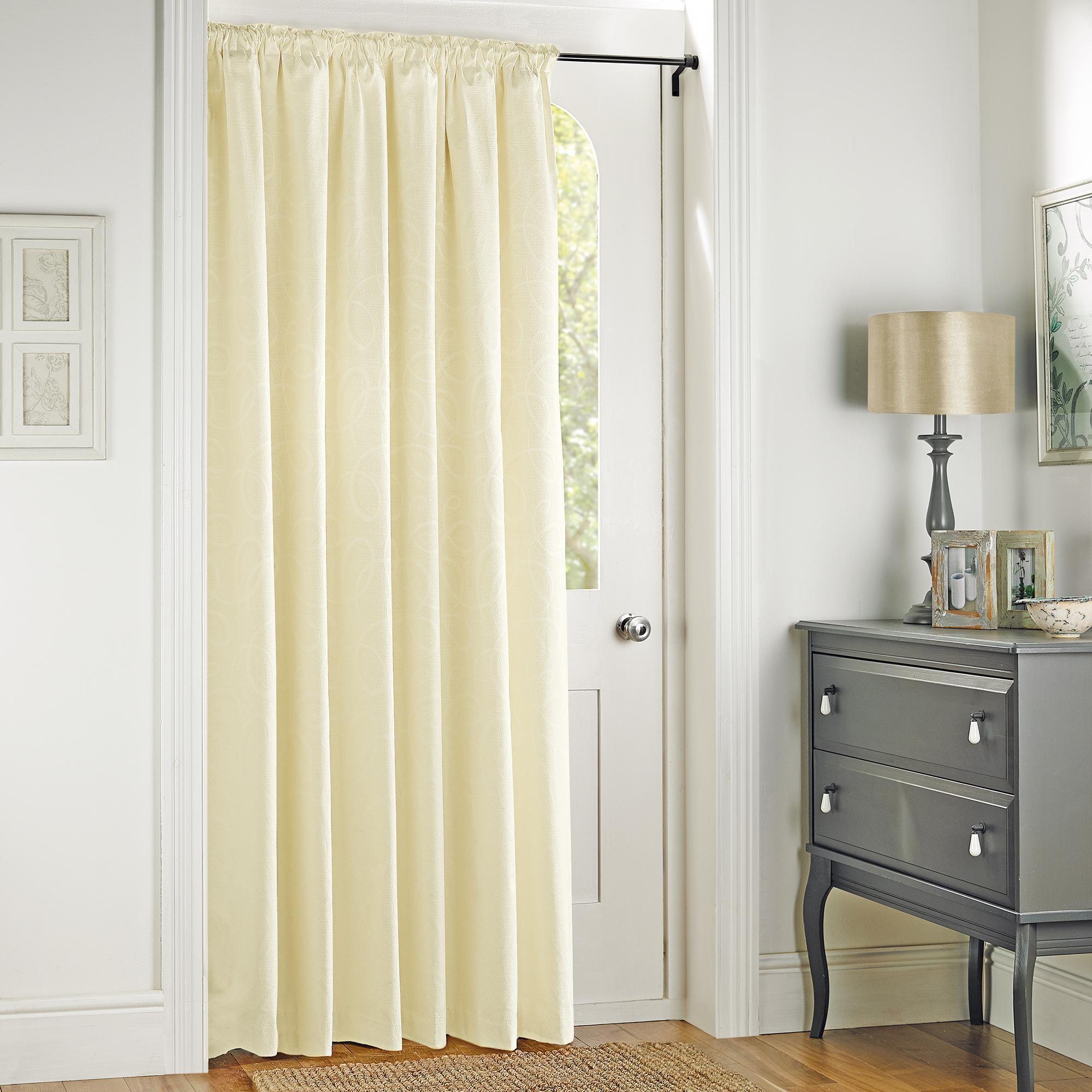 door curtains toledo cream thermal pencil pleat door curtain BMNFKDQ