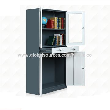 durable storage cabinets ... china metal 4 door durable storage cabinet, flat file cabinet HXPPWAR